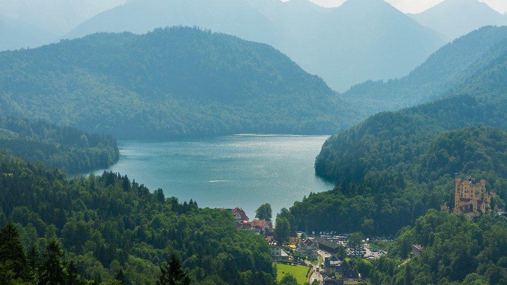 Alpsee, lake in Germany