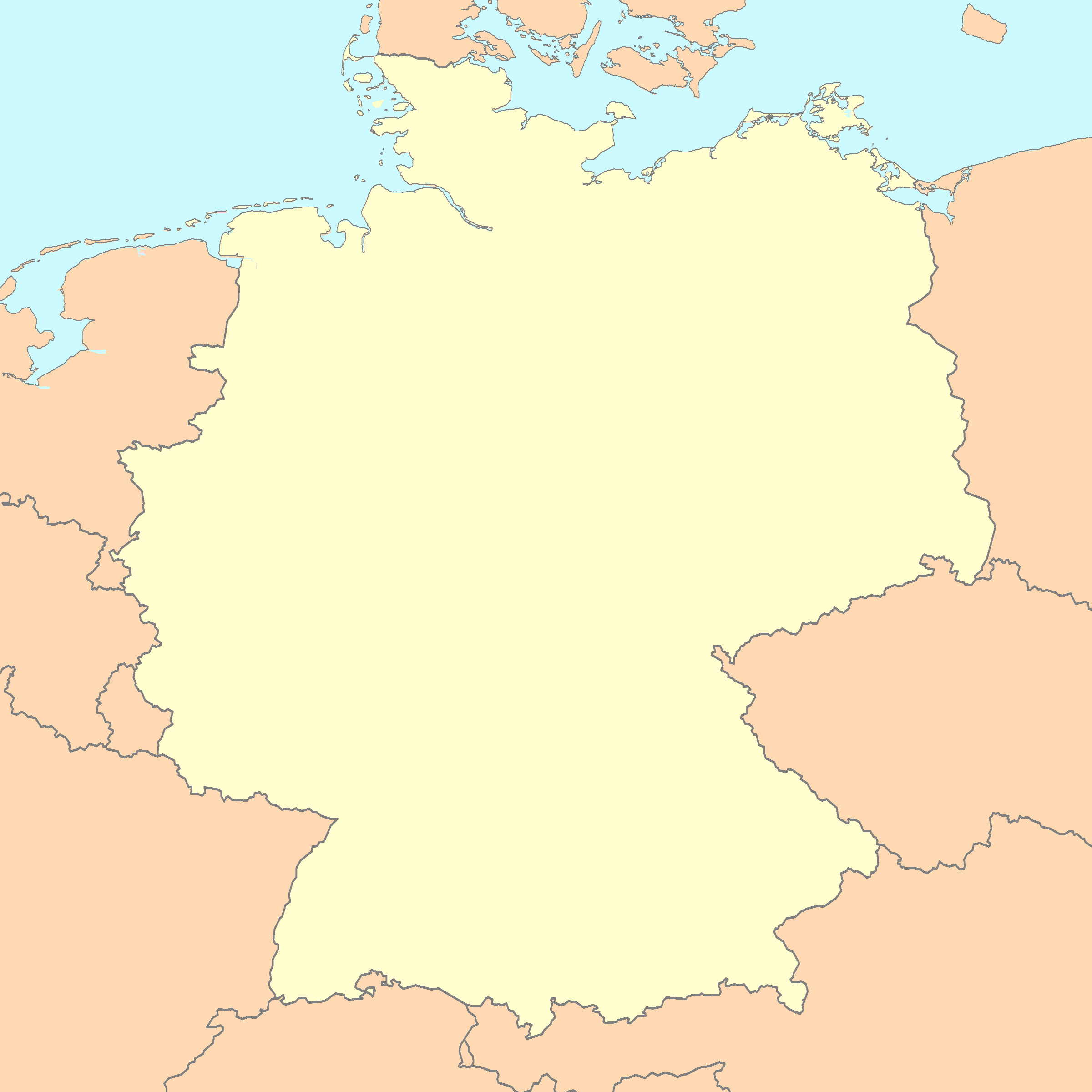 Germany map blank
